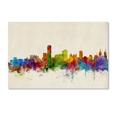 Trademark Fine Art Adelaide Australia Skyline by Michael Tompsett 16 x 24 Canvas Art (MT0603-C1624GG)