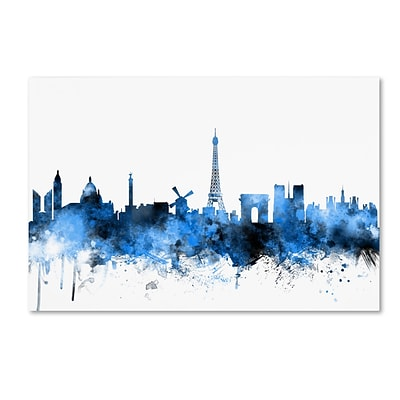 Trademark Fine Art Paris France Skyline by Michael Tompsett 16 x 24 Canvas Art (MT0615-C1624GG)