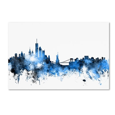 Trademark Fine Art New York Skyline III by Michael Tompsett 16 x 24 Canvas Art (MT0625-C1624GG)