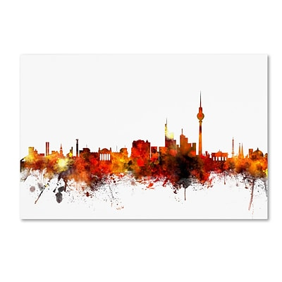 Trademark Fine Art Berlin Germany Skyline II by Michael Tompsett 22 x 32 Canvas Art (MT0652-C2232GG)