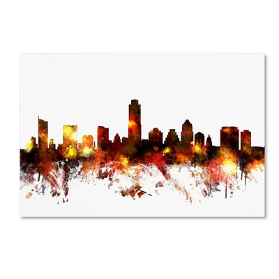 Trademark Fine Art Austin Texas Skyline III by Michael Tompsett 22 x 32 Canvas Art (MT0661-C2232GG)