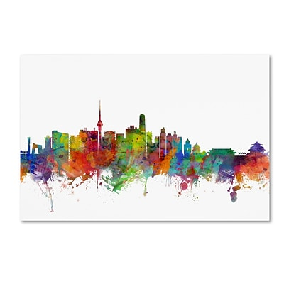Trademark Fine Art Beijing China Skyline by Michael Tompsett 30 x 47 Canvas Art (MT0762-C3047GG)