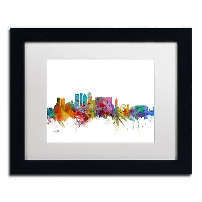 Trademark Fine Art Cape Town South Africa Skyline by Michael Tompsett 11 x 14 Black Frame (MT0769-B1114MF)