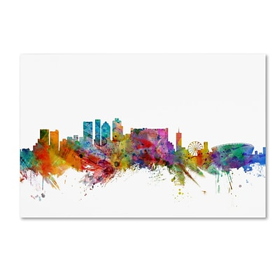 Trademark Fine Art Cape Town South Africa Skyline by Michael Tompsett 16 x 24 Canvas Art (MT0769-C1624GG)