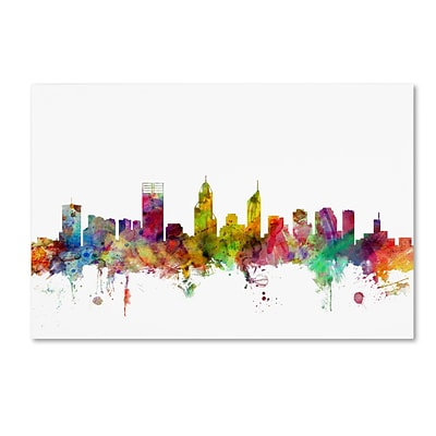 Trademark Fine Art Perth Australia Skyline by Michael Tompsett 12 x 19 Canvas Art (MT0780-C1219GG)