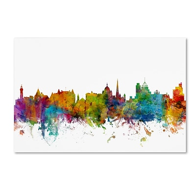 Trademark Fine Art Victoria Canada Skyline by Michael Tompsett 16 x 24 Canvas Art (MT0789-C1624GG)
