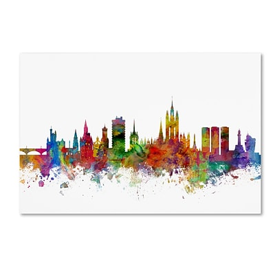 Trademark Fine Art Aberdeen Scotland Skyline by Michael Tompsett 16 x 24 Canvas Art (MT0794-C1624GG)