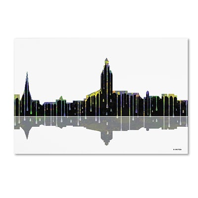 Trademark Fine Art Annapolis Maryland Skyline by Marlene Watson 12 x 19 Canvas Art (MW0039-C1219GG)