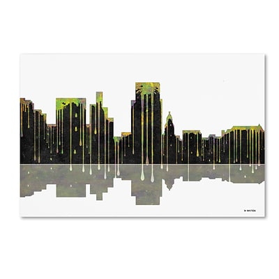 Trademark Fine Art Boise Idaho Skyline by Marlene Watson 12 x 19 Canvas Art (MW0046-C1219GG)