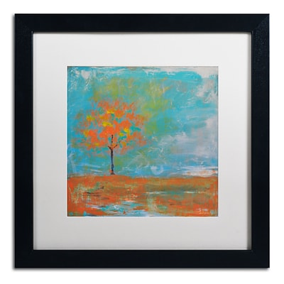 Trademark Fine Art Autumn by Nicole Dietz 16 x 16 White Matted Black Frame (ND088-B1616MF)