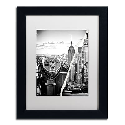 Trademark Fine Art Looking to New York City by Philippe Hugonnard 11 x 14 White Matted Black Frame (PH0073-B1114MF)