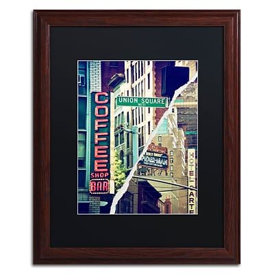 Trademark Fine Art New York Atmosphere by Philippe Hugonnard 16 x 20 Black Matted Wood Frame (PH0075-W1620BMF)