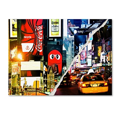 Trademark Fine Art Times Square Night by Philippe Hugonnard 24 x 32 Canvas Art (PH0076-C2432GG)