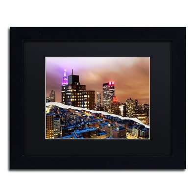 Trademark Fine Art City That Never Sleeps by Philippe Hugonnard 11 x 14 Black Matted Black Frame (PH0078-B1114BMF)