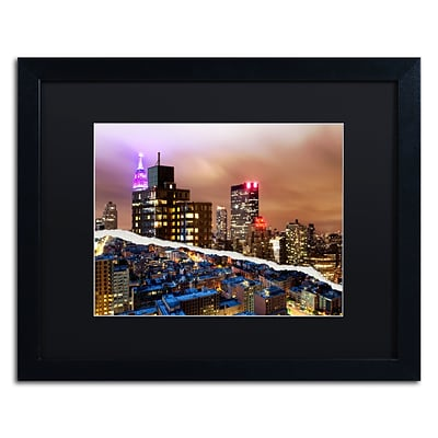 Trademark Fine Art City That Never Sleeps by Philippe Hugonnard 16 x 20 Black Matted Black Frame (PH0078-B1620BMF)