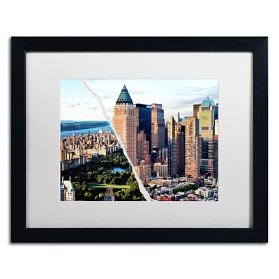 Trademark Fine Art Central Park in Town by Philippe Hugonnard 16 x 20 White Matted Black Frame (PH0081-B1620MF)