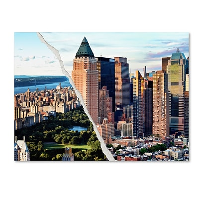 Trademark Fine Art Central Park in Town by Philippe Hugonnard 18 x 24 Canvas Art (PH0081-C1824GG)