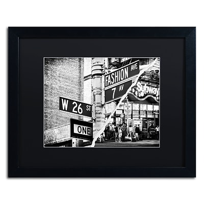 Trademark Fine Art Fashion Signs by Philippe Hugonnard 16 x 20 Black Matted Black Frame (PH0082-B1620BMF)