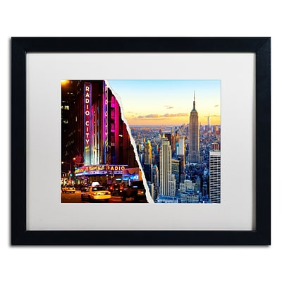 Trademark Fine Art NYC Music Hall by Philippe Hugonnard 16 x 20 White Matted Black Frame (PH0084-B1620MF)