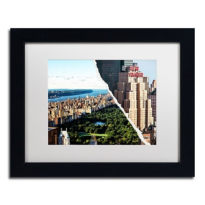 Trademark Fine Art Central Park View by Philippe Hugonnard 11 x 14 White Matted Black Frame (PH0085-B1114MF)