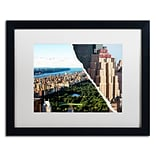 Trademark Fine Art Central Park View by Philippe Hugonnard 16 x 20 White Matted Black Frame (P