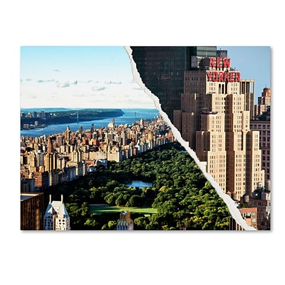 Trademark Fine Art Central Park View by Philippe Hugonnard 24 x 32 Canvas Art (PH0085-C2432GG)