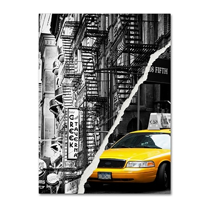 Trademark Fine Art Live in New York by Philippe Hugonnard 35 x 47 Canvas Art (PH0086-C3547GG)