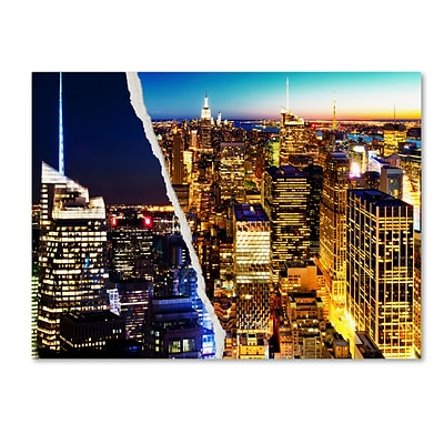 Trademark Fine Art City Lights by Philippe Hugonnard 24 x 32 Canvas Art (PH0087-C2432GG)