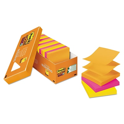 Post-it Pop-Up 3 X 3 Note Refill, Rio De Janeiro, 90/pad, 18 Pads/pack (R33018SSAUCP)