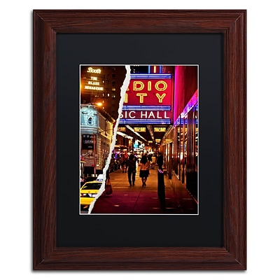 Trademark Fine Art A Theater Tonight by Philippe Hugonnard 11 x 14 Black Matted Wood Frame (PH0088-W1114BMF)
