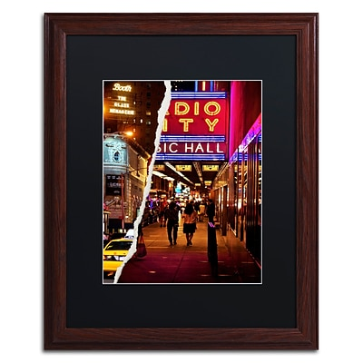 Trademark Fine Art A Theater Tonight by Philippe Hugonnard 16 x 20 Black Matted Wood Frame (PH0088-W1620BMF)