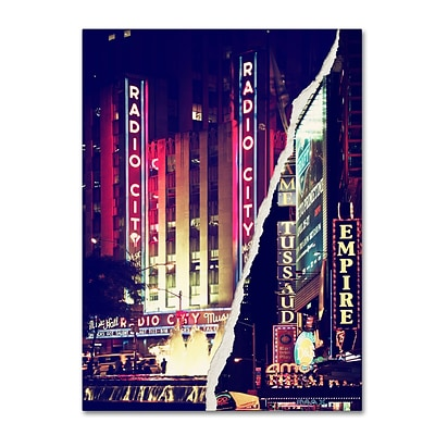 Trademark Fine Art Times Square Theater District by Philippe Hugonnard 14 x 19 Canvas Art (PH0089-C1419GG)