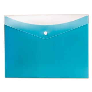 Globe-Weis® Poly Snap Envelope, Letter, Blueberry