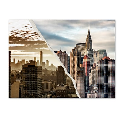 Trademark Fine Art The Skyscrapers by Philippe Hugonnard 35 x 47 Canvas Art (PH0092-C3547GG)