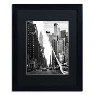 Trademark Fine Art Downtown City by Philippe Hugonnard 16 x 20 Black Matted Black Frame (PH009