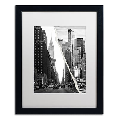 Trademark Fine Art Downtown City by Philippe Hugonnard 16 x 20 White Matted Black Frame (PH0093-B1620MF)