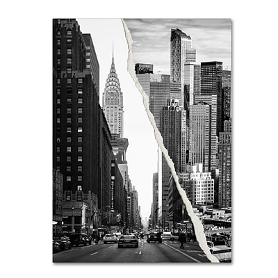 Trademark Fine Art Downtown City by Philippe Hugonnard 14 x 19 Canvas Art (PH0093-C1419GG)