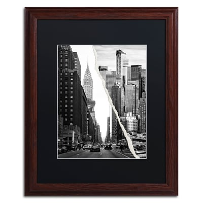 Trademark Fine Art Downtown City by Philippe Hugonnard 16 x 20 Black Matted Wood Frame (PH0093-W1620BMF)
