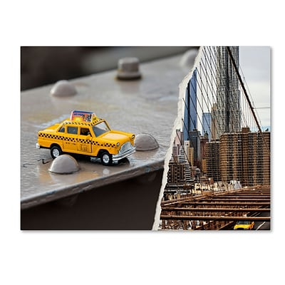 Trademark Fine Art NYC Taxi by Philippe Hugonnard 18 x 24 Canvas Art (PH0095-C1824GG)