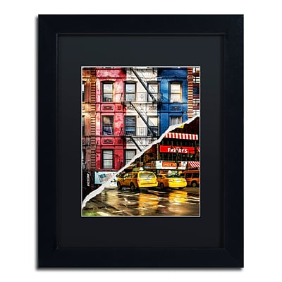 Trademark Fine Art American Colors by Philippe Hugonnard 11 x 14 Black Matted Black Frame (PH0101-B1114BMF)
