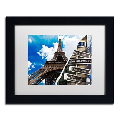 Trademark Fine Art Afternoon in Paris by Philippe Hugonnard 11 x 14 White Matted Black Frame (PH0102-B1114MF)