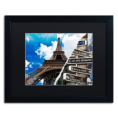 Trademark Fine Art Afternoon in Paris by Philippe Hugonnard 16 x 20 Black Matted Black Frame (PH0102-B1620BMF)