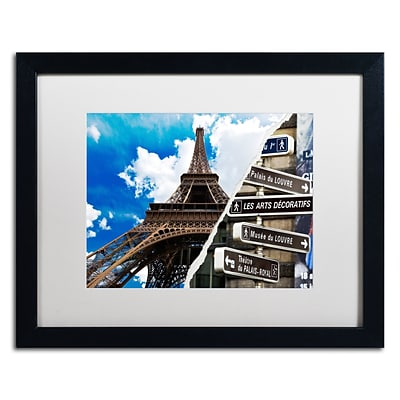 Trademark Fine Art Afternoon in Paris by Philippe Hugonnard 16 x 20 White Matted Black Frame (PH0102-B1620MF)