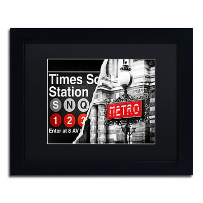 Trademark Fine Art Metropolitain by Philippe Hugonnard 11 x 14 Black Matted Black Frame (PH0107-B1114BMF)