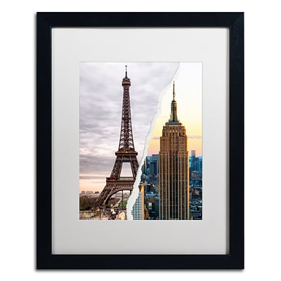 Trademark Fine Art The Empire Eiffel by Philippe Hugonnard 16 x 20 White Matted Black Frame (PH0108-B1620MF)