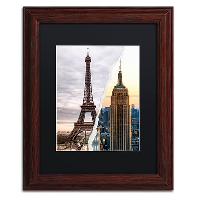 Trademark Fine Art The Empire Eiffel by Philippe Hugonnard 11 x 14 Black Matted Wood Frame (PH0108-W1114BMF)