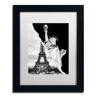 Trademark Fine Art Architectural Grandeur by Philippe Hugonnard 11 x 14 White Matted Black Frame (PH0109-B1114MF)