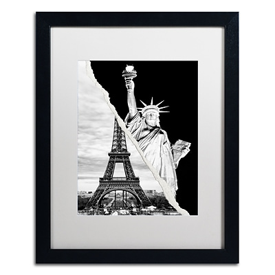 Trademark Fine Art Architectural Grandeur by Philippe Hugonnard 16 x 20 White Matted Black Frame (PH0109-B1620MF)