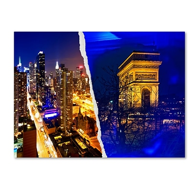 Trademark Fine Art Cities at Night by Philippe Hugonnard 14 x 19 Canvas Art (PH0110-C1419GG)