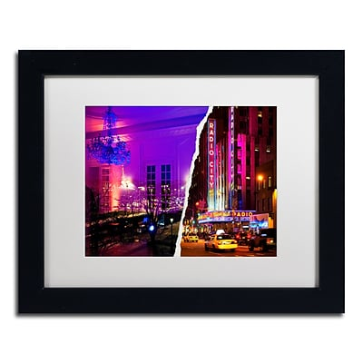 Trademark Fine Art City Dreams by Philippe Hugonnard 11 x 14 White Matted Black Frame (PH0112-B1114MF)